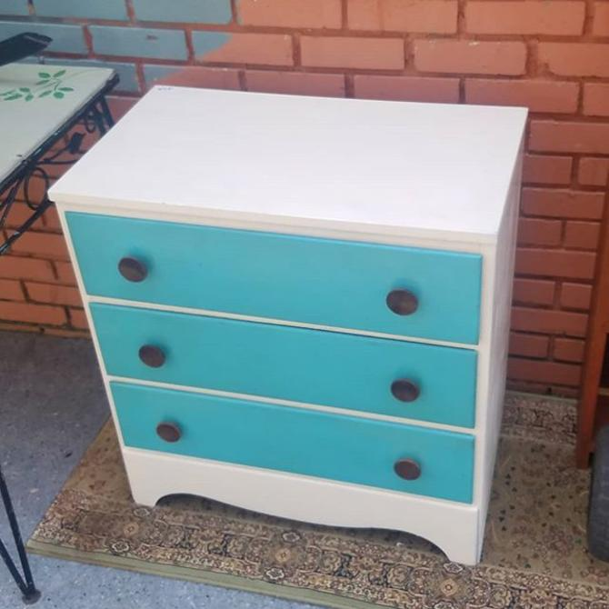 White n Blue Dresser,