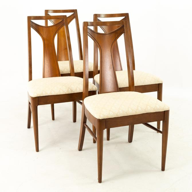 Kent Coffey Perspecta Mid Century Walnut Dining Chairs - Set of 4 - mcm by ModernHill