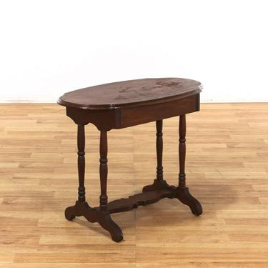 Trestle Base 1 Drawer Console End Table
