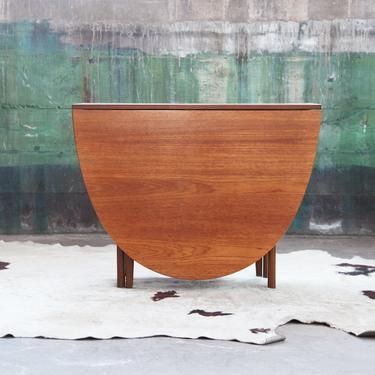 ELEGANT Mid Century Danish Modern Teak Oval Table with drop down leaves--Console Table also! beautiful wood grain! mcm Scandinavian Denmark by CatchMyDriftVintage