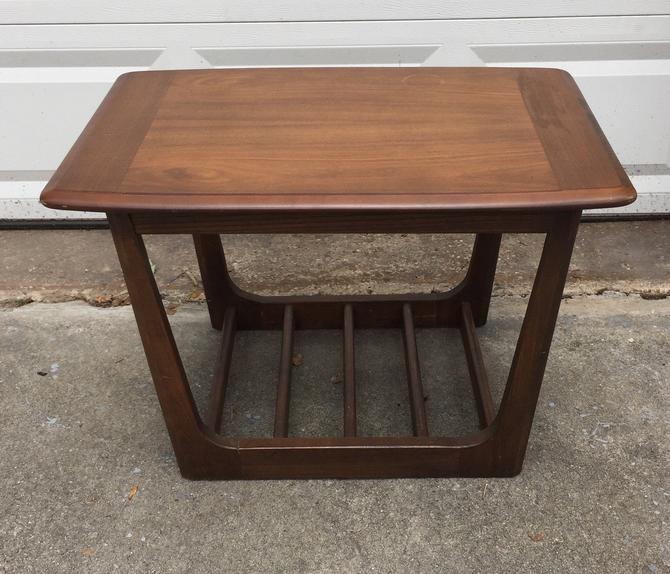 Mid Century Modern Walnut side Table by UrbanInteriorsBalt