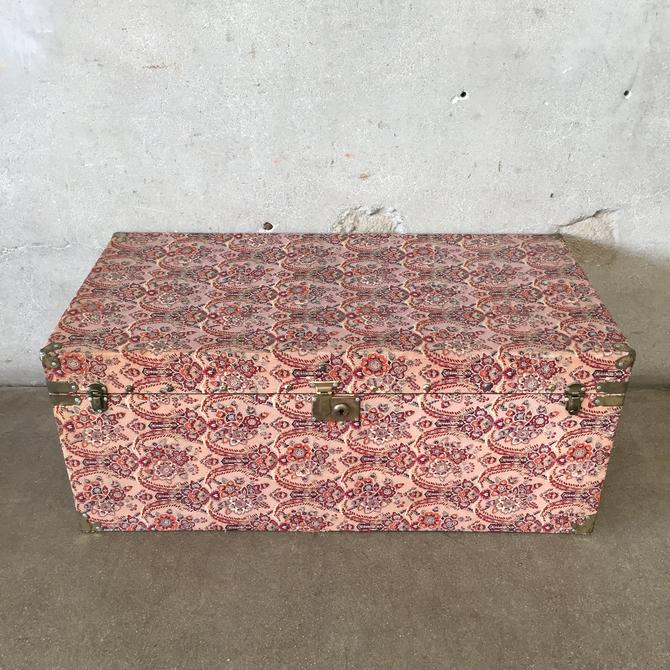 Vintage Covered Japanese Trunk