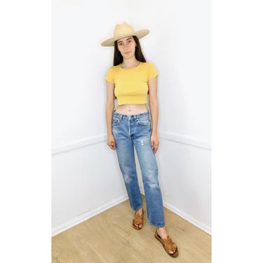 USA Levi's 501 Jeans // vintage Levis medium light faded wash Levi 80s 90s hippy 31 501 501s // 26 by FenixVintage