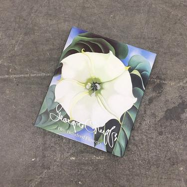 Vintage Georgia O'Keeffe One Hundred Flowers Retro 1980s American Artist + Painter + Modern Art + Modernism + Hardcover + Coffee Table Book by RetrospectVintage215