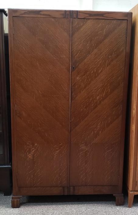 Item #R113 Deco Oak Armoire c.1920s