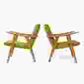Oak Reading Chair