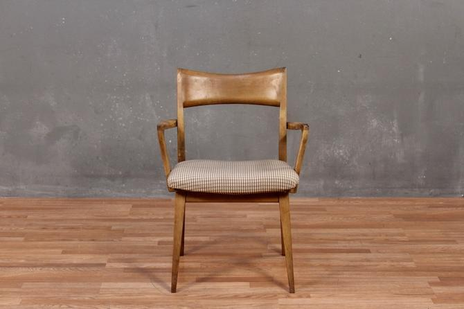 Heywood-Wakefield Sable & Plaid Armchair