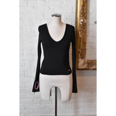 1990's | TO2 Todd Oldham | Black Top with Thumb Cut Outs by LadyofLizard