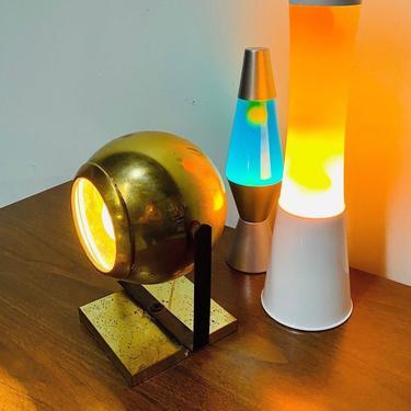 MCM Brass Eyeball Lamp, Mid Century Globe Light, Retro Eyeball Light, Retro accent Lamp, MCM Lighting by VivaLaVintagedotTX