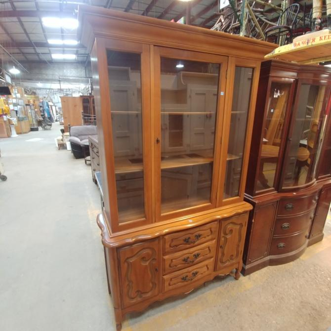 Vintage Cherry China Cabinet