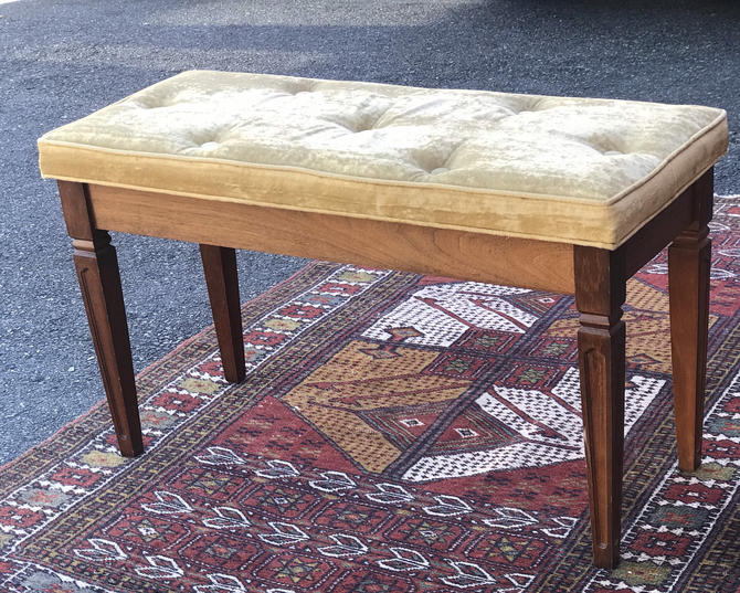 Free Shipping Within US - Vintage Mid Century Modern Bench Sofa Table Stand Ottoman by BigWhaleConsignment