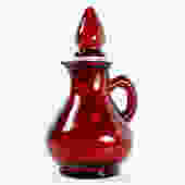 AVON Ruby Red Decanter with Strawberry Stopper - Ruby Cruet - Vintage Avon Bottle  | FREE SHIPPING by Trovetorium
