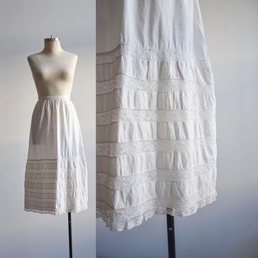 Edwardian White Cotton Lace Skirt by milkandice