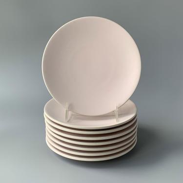 Eight Massimo Vignelli Sasaki Colorstone Matte Pink Salad/Dessert Plates by HomeAnthology