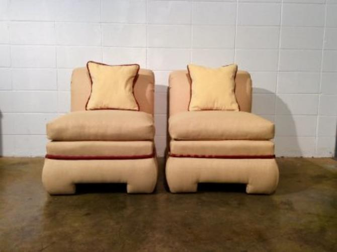 Pair Roll Back Chairs by Vanguard Furniture