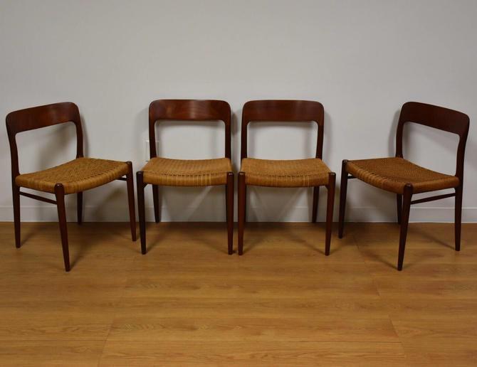 Niels Møller Model 75 Teak Dining Chairs - Set of 4 by mixedmodern1