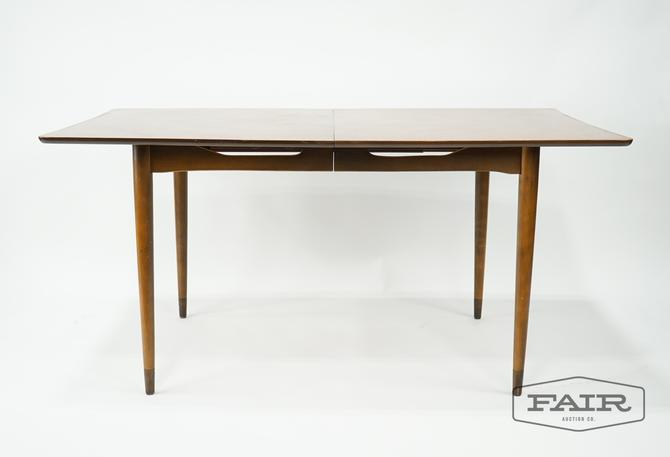 Walnut Mid Century Dining Table with Leaf