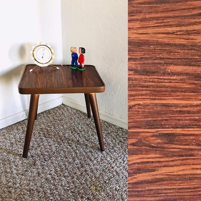 Vintage Plant Table, Vintage Display Table, Mid Century Accent Table, Formica Table, Mid Century Stool, Side End Table, Vintage Table by dadacat