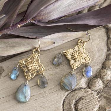 Bronze and Labradorite Rosario Earrings