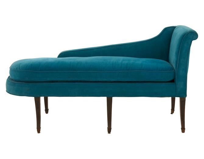 Vintage Blue Chaise Lounge
