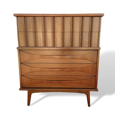 Mid Century Modern Arne Vodder Style Chest of Drawers Highboy Dresser by VeronaVintageHome