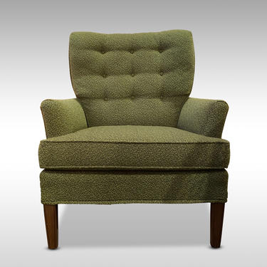 Highback Green Armchair, Circa 1950s - Please ask for a shipping quote before you buy. by CoolCatVintagePA