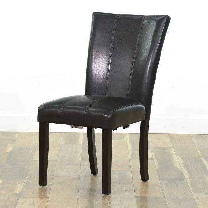 Single Mocha Vinyl Dining Chair