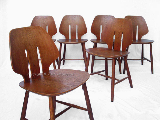 6 Modern Dining Chairs By Ejvind A. Johanss For FDB Mobler Vintage 1960 Production by RetroSquad