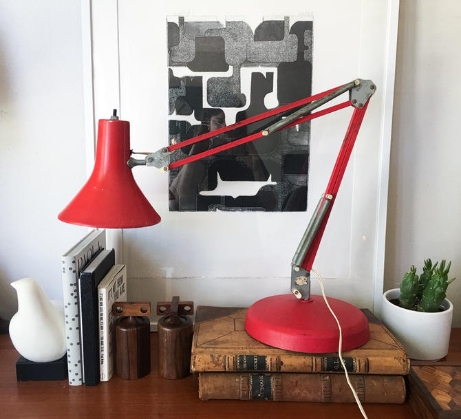 All Original Luxo L 1 By Jac Jacobsen Architect Lamp Vintage Industrial CaribeCasualShop