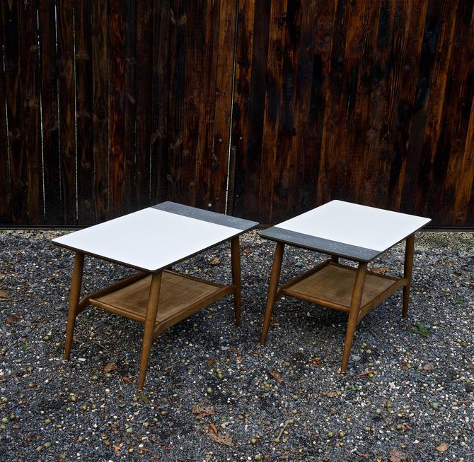 1960s Mid-Century Starburst Endtables Side Table Vintage Modern Retro McM by BrainWashington