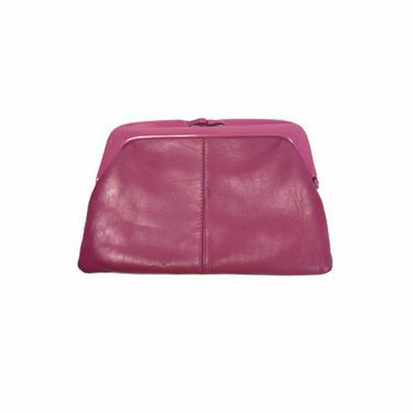 Vintage 80's Mauve Purple Leather Clutch Handbag Bag Purse by Northforkvintageshop
