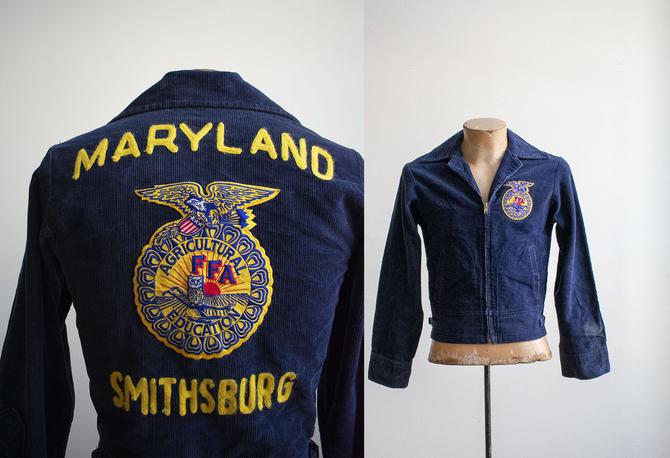 Vintage FFA Jacket / Corduroy Farmer Jacket / Vintage Chainstitched Jacket / Future Farmers of America / Vintage 1960s Maryland Jacket by milkandice