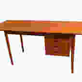 Mid Century Danish teak Drop Leaf Desk Arne Vodder Denmark by Marykaysfurniture