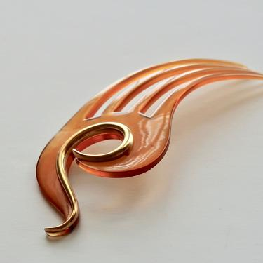 Art Nouveau Asymmetric Hair Comb, Edwardian Comb, Art Deco Hair Comb, Antique Hair Comb, Hair Ornament, Hair Jewelry, Hair Decoration by CombAgain