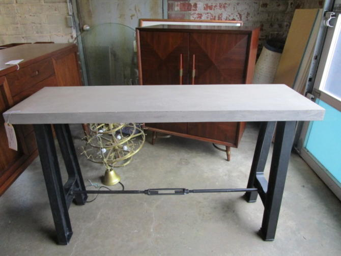 INDUSTRIAL CONSOLE WITH FAUX GRANITE TOP