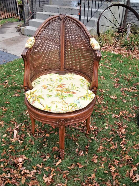 MCM Cane Back Chair, French Country, French, Cane, Shabby Chic, Bedfroom Decor, Home Decor  FREE SHIP To your Zip! by 3GirlsAntiques