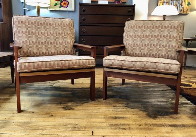 """Pair of """"Capella"""" Teak Easy Chairs by Illum Wikkelso"""