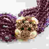 Elizabeth Taylor Beauteous Forever Violet  Glass Bead Necklace by LegendaryBeast