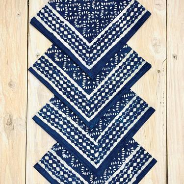 Indigo Block Print Napkin Set