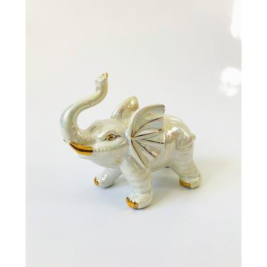 Vintage Iridescent Ceramic Elephant by SergeantSailor