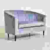 """Vienna"" Powder Blue 1960's Style Sofa"