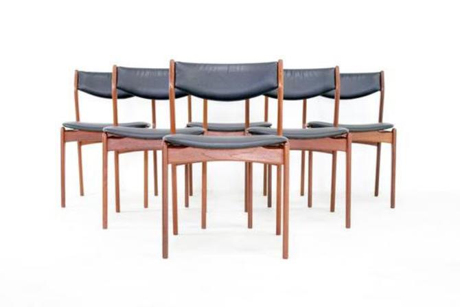 Mid Century Dining Chairs by Farso Stolefabrik Denmark by SputnikFurnitureLLC