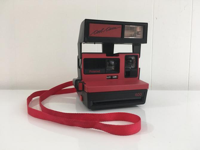 Vintage Polaroid Cool Cam 600 Red Black Instant Film Photography Impossible Project Believe in Film Polaroid Originals by CheckEngineVintage
