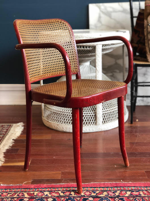 Vintage Hand Caned Bentwood Chair by StrangelovelyVintage