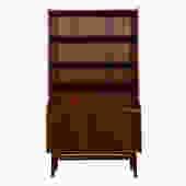 Tall Danish Teak Bookcase Display / Storage Cabinet