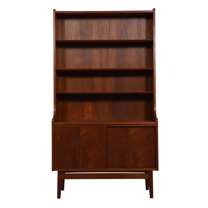 Tall Danish Teak Bookcase Display / Storage Cabinet