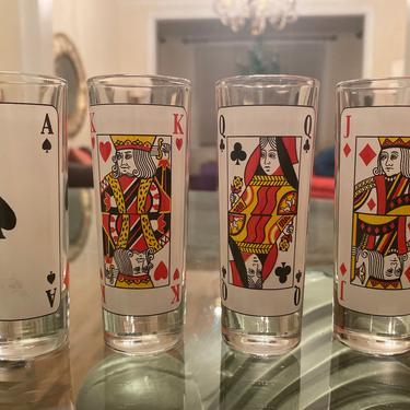 Poker Card Suit Shot Glasses - Set of 4 by AntiquetoChicChicago