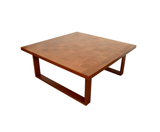 Teak Cocktail Table Parquet Top Table By Arne Vodder For France & Son Mid Century Modern by HearthsideHome