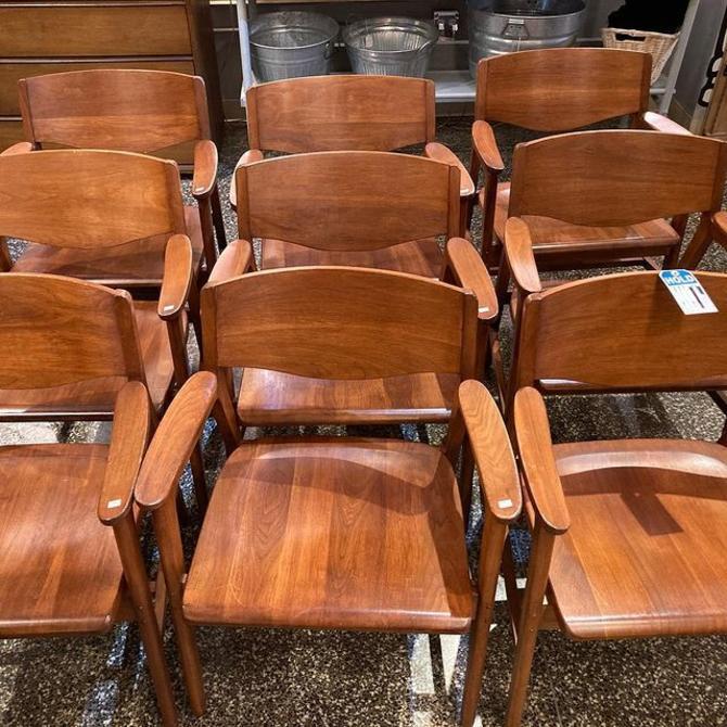 "Gunlocke chair model 1977 walnut chair(s). 23.5"" x 18.5"" x 30"""