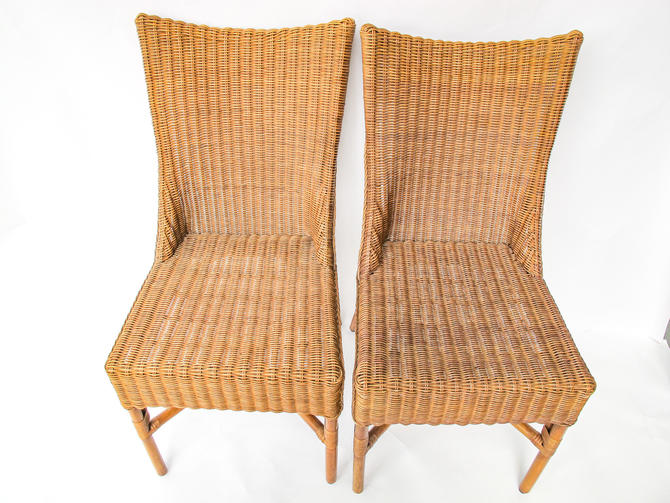 Bohemian Mid-Century Bamboo and Rattan Chairs (Sold as a Set) by PortlandRevibe